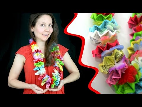 How to Make the Most Colorful Money Lei Ever for Graduation