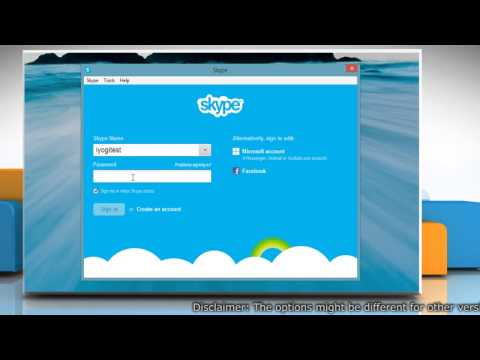 Start Skype® for Windows® Desktop automatically in Windows® 8.1 PC