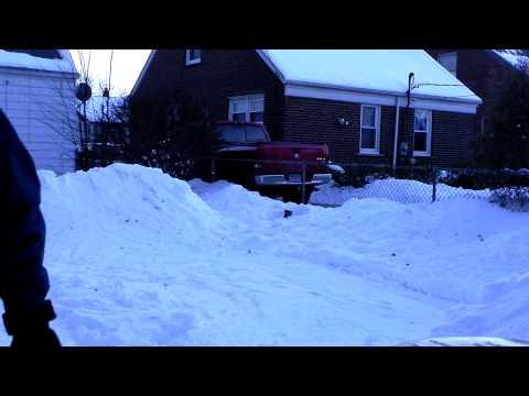 Backyard Snow Halfpipe
