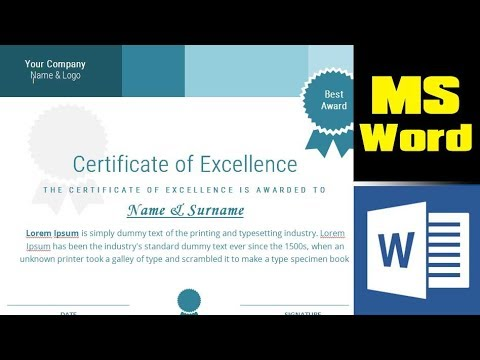 How to design a certificate from scratch in MS Word - Microsoft Word Tutorial