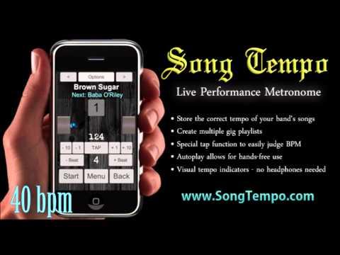 40 BPM Metronome - 10 Minutes Click Track - www.SongTempo.com