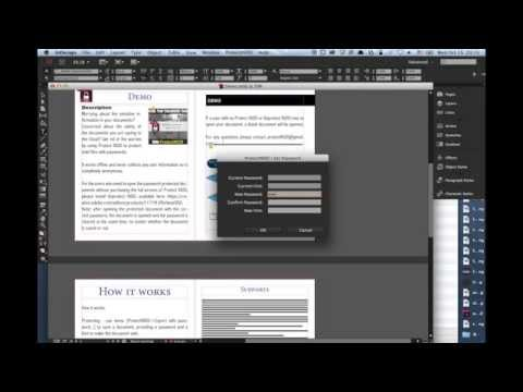 ProtectINDD - Set a password to your Adobe InDesign document - keep your documents safe