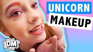 Unicorn Makeup Tutorial + Unicorn DIY Hair! | Alyssa Vlogs