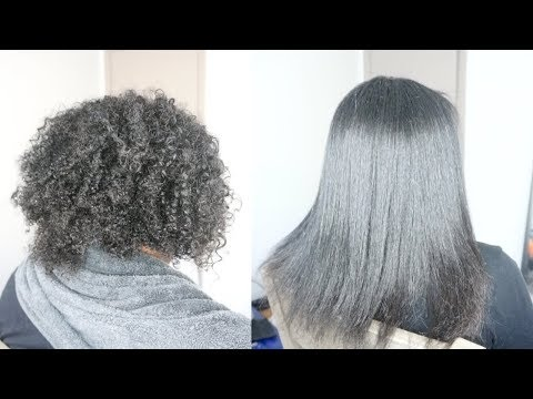 STRAIGHTENING MY SISTER'S NATURAL HAIR
