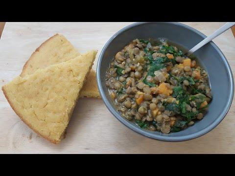 Harvest Lentil Stew|Solo Budget-Vegan