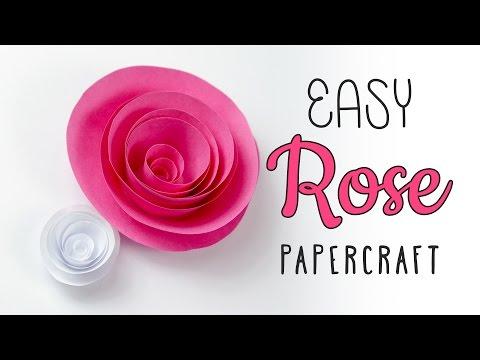 Easy Papercraft Rose Swirl Tutorial ♥︎ DIY ♥︎ Paper Kawaii
