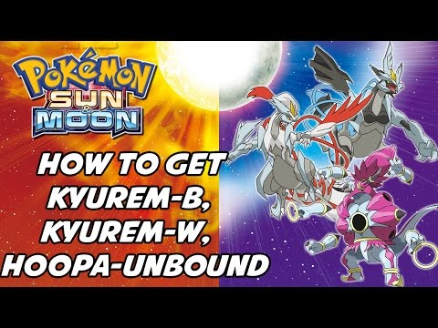 How to Fuse Kyurem + Zekrom/Reshiram & How to Change Hoopa's Form in Pokemon Sun and Moon!