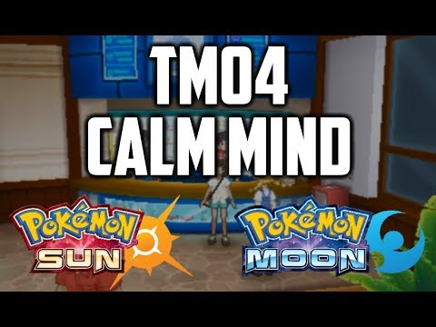 Where to Find TM04 Calm Mind in Pokemon Sun and Moon