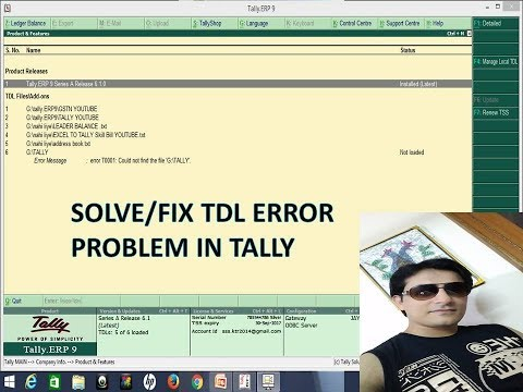 TALLY | FIX TDL ERROR |  Tally GST TDL ERROR T0001 Could not find the file