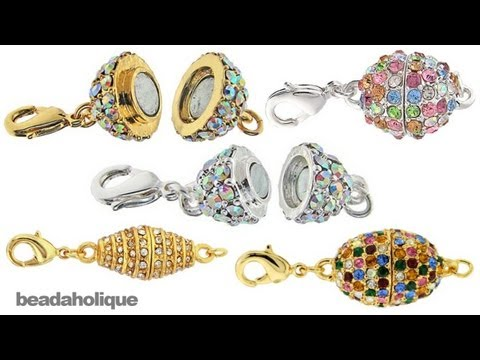 How to Use Beadelle Crystal Pave Magnetic Clasps