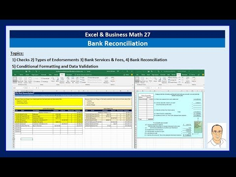 Excel & Business Math 27: Bank Reconciliation Made Easy