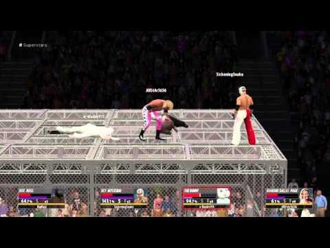 WWE 2K16 cage glitch
