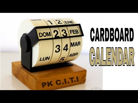 Diy desk calender    cardboard calender    Flip calender