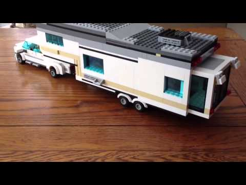 Lego fifth wheel camper and truck