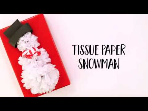 Tissue Paper Snowman Gift Wrap | Christmas Gift Wrap Ideas (Short Version)