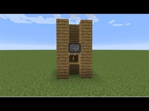 SIMPLEST Piston Elevator - Minecraft (Dummy Proof)