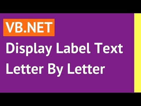 VB.NET - Display Label Text Letter By Letter Using Timer In Visual Basic.Net [ with source code ]