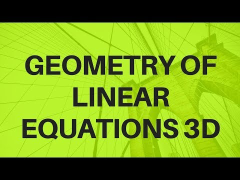 Geometry of Linear Equations 3D