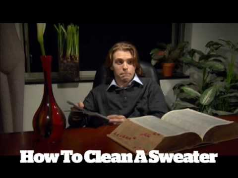 Virtual Valet - How to Clean a Sweater - Esquire