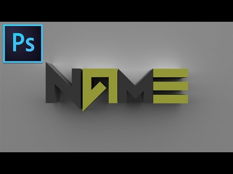 PHOTOSHOP CC TUTORIAL | How to make a 3D text/logo.