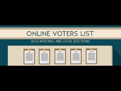 The COMELEC web page presents the List of Registered Voters by Precinct who is allowed to vote in th