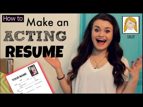 How to Make an Acting Resume!!
