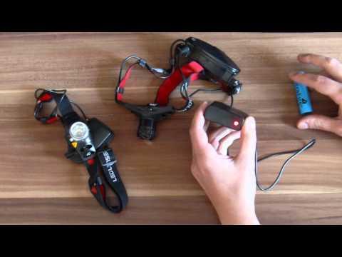 LED-Lenser H7 vs. China 5w CREE LED Headlamp