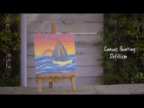 Canvas Painting: Dotillism