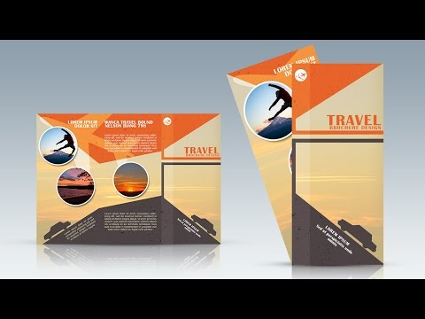 Photoshop Tutorial Trifold Travel Brochure Design