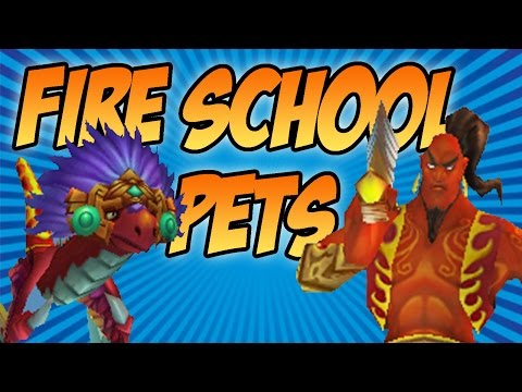 Wizard101: Dual Fire Pet Showcase - Efreet and Sun Serpent