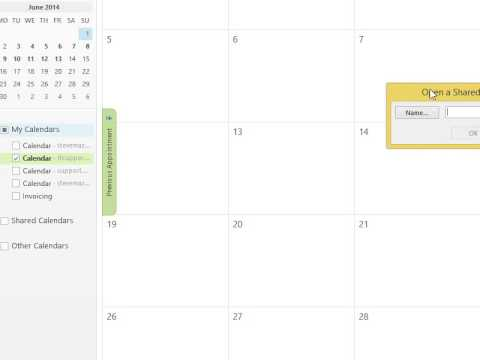 Office 365 a shared calendar is missing