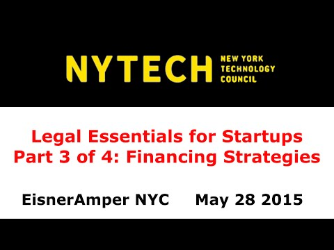 NYTECH Legal Essentials Part 3: Financing Strategies