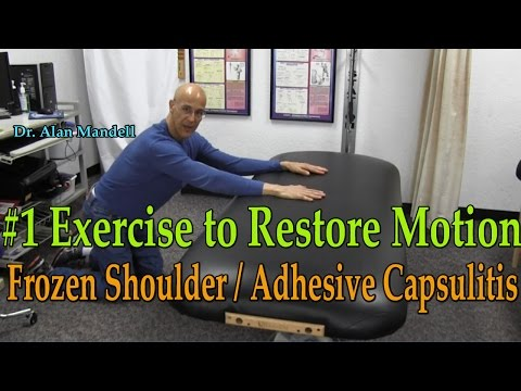#1 Exercise to Restore Motion/Break Adhesions with Frozen Shoulder - Dr Mandell