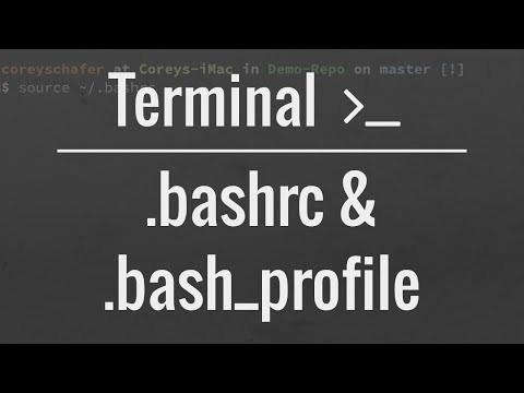 Customizing Your Terminal: .bash_profile and .bashrc files