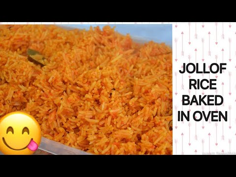 HOW TO MAKE OVEN BAKED JOLLOF RICE / HUBBY EDITION 😁