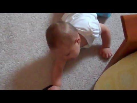 Fast commando crawling baby.