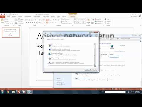 Ad-hoc network PC Windows XP, Vista, 7