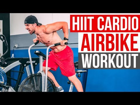 FAST Cardio Airbike Workout (Lose FAT with HIIT)