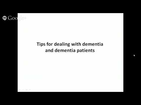 Dementia - Understanding Dementia - and advice for family members and caregivers