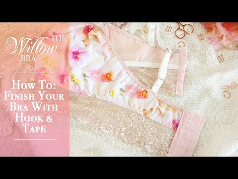 How To: Finish Your Longline Bra with Hook & Eye Tape