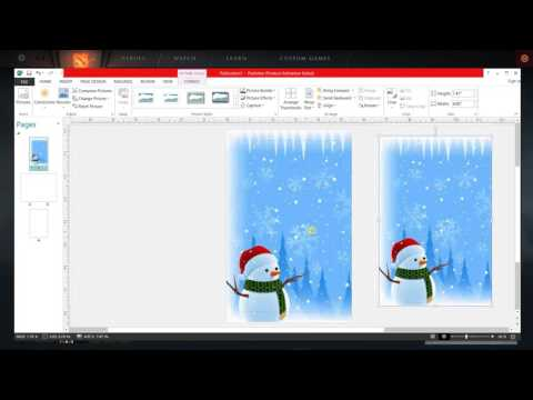 How to Make Greeting Card in MS Publisher
