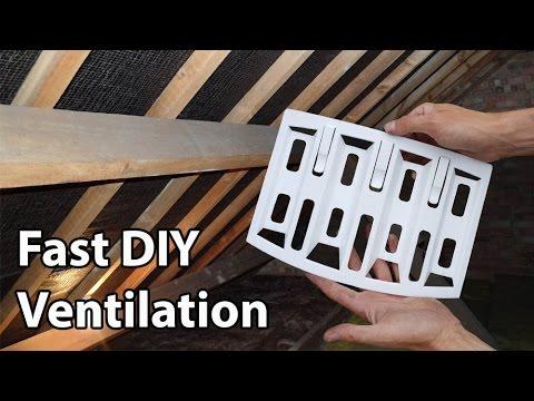 Roof Ventilation Lap Vents Simple DIY Loft Vents