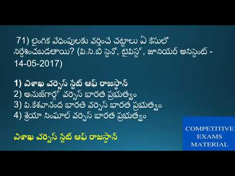 Indian Polity mcqs in telugu part 3 for all exams