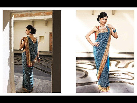 How to drape/wear saree of flat front pallu with thin pleats perfectly