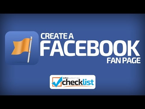 Author Marketing Checklist - Create a Facebook Fan Page