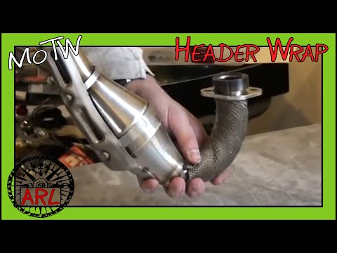 Wrapping your Motorcycle Exhaust Header to Boost Torque