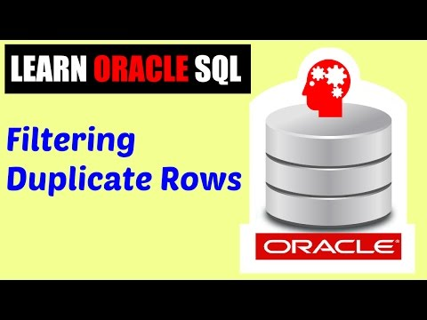 Learn Oracle SQL : Filtering Duplicate Rows ( The DISTINCT Clause )
