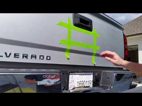 2016, 2017, 2018 Silverado Rear Black Bowtie Removal & Install