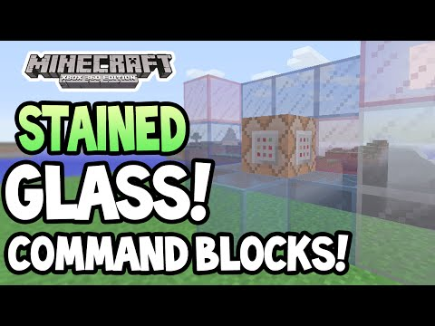 Minecraft (Xbox 360/PS3) - TU19 UPDATE! - STAINED GLASS! + COMMAND BLOCKS! - GAMEPLAY!