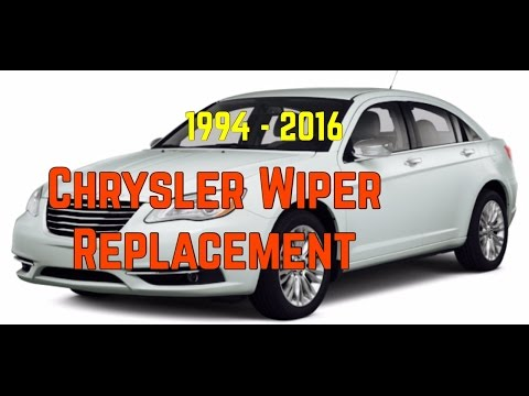 DIY Chrysler Windshield Wiper Replacement- Bundys Garage